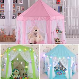 girls play tents 2019 - Hot Sale Children Kids Play Tent Fairy Princess Girls Boys Hexagon Playhouse House cheap girls play tents