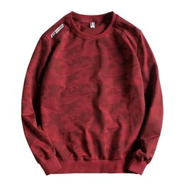 Ladies sweaters neck designs online shopping - Autumn and winter high qualityLuxury camouflage fabric plus velvet design pullover sweater super large size design men s sweater ladies swea