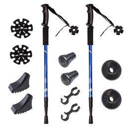 Discount adjustable walking poles - s Adjustable Retractable Anti-Durable Aluminum Hiking Sticks Hiking Poles For Outdoor Walking
