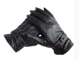 $enCountryForm.capitalKeyWord UK - 2018 New design men's black luxury PU leather cashmere winter super driving warm gloves Hot Sale High Quality Gloves 18Nov