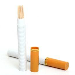 $enCountryForm.capitalKeyWord UK - 2 PCs Creative Cigarette Shape Toothpick Holders Mini Portable Pocket Plastic Toothpick Box Container Organizer