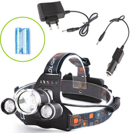 headlamp highest lumens NZ - LED Headlamp 6000 Lumens 3 x XM-L T6 Headlight Snow Proof High Power LED Headlamp Head Torch Lamp Flashlight Head +charger+car charger