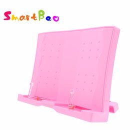 document holders UK - Pink Book Holder 180 Angle Adjustable and Portable Reading Stand Book stand Document Holder Cook Document Bookrest