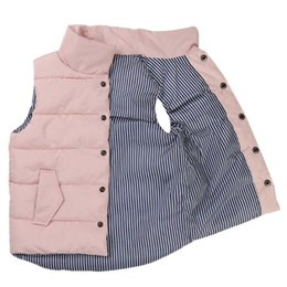 Winter Waistcoats for kids online shopping - Spring Down Cotton Vest Sleeveless Button Vest Kids Tops for Unisex for Boys Girls Clothes for Spring Autumn T T