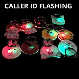 Wholesale Newest phone stand Call flashing Finger Ring Holder for iphone universal LED light cartoon mobile phone bracket Christmas gifts