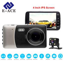 Rearview Screen NZ - Car DVR 4 Inch IPS Screen Auto Camera Dual Lens FHD 1080P Dash Cam Video Recorder Night Vision G-sensor Registrator
