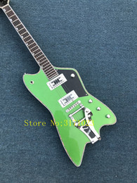 China Rare Gre G6199 Billy-Bo Jupiter Metallic Green Thunderbird Electric Guitar Abalone Body & Neck Binding,Bigs Tremolo Tailpiece, Clearance suppliers