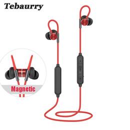 wireless headphones mic for phone 2018 - Tebaurry Bluetooth Headset IPX7 waterproof wireless headphone sports bass bluetooth earphone with mic for phone iPhone x