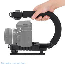 $enCountryForm.capitalKeyWord Australia - Newest U C Shape flash Bracket holder Video Handle Handheld Stabilizer Grip for DSLR SLR Camera Phone for Sports Action Camera DV Camcorder