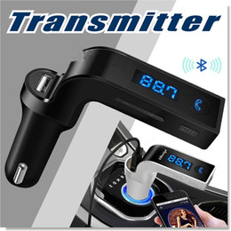 Wholesale Bluetooth FM Transmitter Wireless In Car FM Adapter Car Kit with USB Car Charger for iPhone Samsung LG HTC Android Smartphone