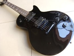 Wholesale LP Sandard Electric Guitar With Cross Inlay Black Hardware In Black