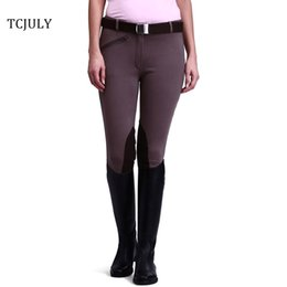 $enCountryForm.capitalKeyWord Canada - TCJULY 2018 New Fashion Breeches For Women Inside Suede Spliced Riding Breeches Elastic Slim Cotton Ladies Pencil Pants