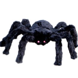 $enCountryForm.capitalKeyWord UK - Halloween Decoration Props Plush Spider Large Size Black Color Spider Plush Halloween Props Spider Funny Toy Party Bar KTV
