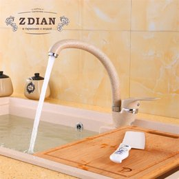 Discount kitchen water pipes - Beige Paint Kitchen Faucet Bend Pipe 360 Degree Rotation with Water Purification Features Single Handle