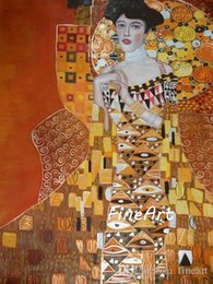 Klimt Paintings Australia - handpainted oil painting reproduction of famous artist gustave klimt canvas art Grande discount best oil painting canvas art decoration for