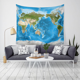 cloth maps 2021 - New Arrival 9 Styles World map Home Decor Tapestries Beach Towel Camping blanket Bedsheet Table-cloth With LED