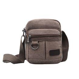 Mens Cross Body Bags NZ - SFG HOUSE Mens Fashion Durable Travel Canvas Shoulder Bags Solid Handbag 2018 Men Causal Hot Cross-body Bag