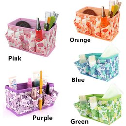 Green Box Containers Australia - Organizer box makeup organizers Cosmetic Storage Box Women Bag Foldable Stationary Container Makeup organizador watch box basket