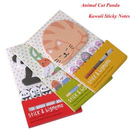 $enCountryForm.capitalKeyWord NZ - Animal Cat Panda Cute Kawaii Sticky Notes Memo Pad School Supplies Planner Stickers Paper Bookmarks Korean Stationery