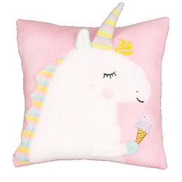 $enCountryForm.capitalKeyWord UK - 3 Colors 45*45cm Unicorn Doll Unicorn Plush Toy Cartoon Unicorn Knitted Pillow Cartoon Accessories Kids Xmas Gifts