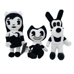 Chinese  Bendy Boris Alice Angel Plush Doll Ink Machine Soft Stuffed Thriller Figure Toys For Kids Adult Xmas Halloween Gifts 30cm HH7-1296 manufacturers