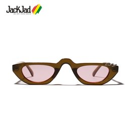 golden eye ring NZ - JackJad Fashion Cat Eye Style Metal Ring Frame Slim Sunglasses Women Cool Brand Design Sun Glasses Oculos De Sol Feminino 813052