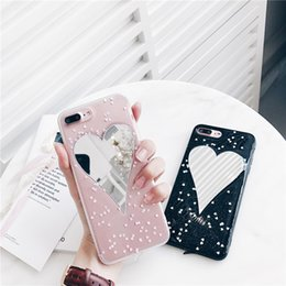 $enCountryForm.capitalKeyWord Canada - Glitter Soft Back Case Bling Cosmetic Makeup Mirror Love Heart Phone Cover Special Lady Shell for iPhone X 6s 7 8 Plus