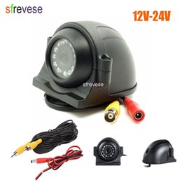 truck cameras NZ - 12V-24V12 LED Side HD Car Rear View CCD Reversing Backup Camera For Truck Bus Monitor RCA Plug + 5m Video Cable
