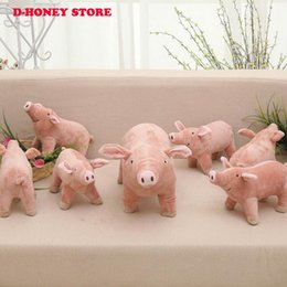 best toy farm animals Canada - 25cm 40cm Simulation Pig Baby Doll Life like Piggy Plush Toys Stuffed Dolls Pillow Kids Toys Doll Girlfriend Best Gifts