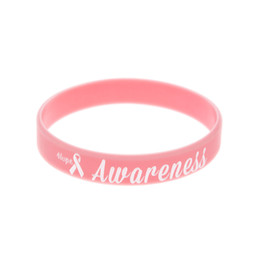 Wear Bracelet Australia - Wholesale 100PCS Lot Hope Ribbon Breast Cancer Awareness Silicone Bracelet Show Your Support Wearing This Wristband