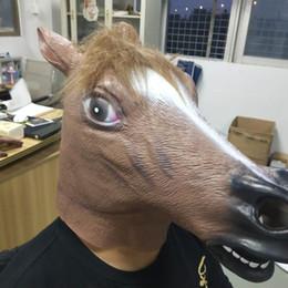 $enCountryForm.capitalKeyWord NZ - Hot Sale Mask Full Face Halloween Horse Unicorn Mask Novelty Creepy Head Latex Brown Costume Theater Prop Party Mask Christamas