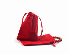 Halloween Packs Australia - 100pcs Hot And Cheap 9x12cm Jewelry Charams Packing Velvet Pouches Good Quality Cosmetic Wedding Halloween Candy Gift Storage Packagings