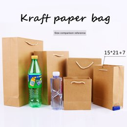 $enCountryForm.capitalKeyWord UK - 15*21cm+7cm Portable Thicken solid Kraft paper Custom-made clothing gift shopping package Takeaway Corporate advertising Standing bag