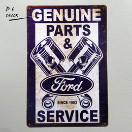 "art parts 2018 - Tin signs ""Ford Genuine Parts & service since 1903"" Mustang Car Garage Metal Decor Art Bar Pub Shop Store disc"