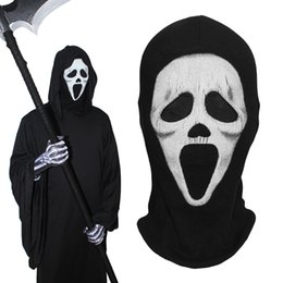 scream ghost face costume 2019 - Scream Full Face Masks Death Grim Reaper Ghost Tactical Army Party Halloween Costume Cosplay Winter Warmer Balaclava che