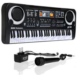 Großhandel Kinder E-klavier Orgel 61 Tasten Musik Elektronische Tastatur Key Board Für Kinder Chrismas Geschenk US stecker