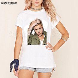 $enCountryForm.capitalKeyWord Canada - Justin Bieber T Shirt Women and Men Tshirt Rock Hip Hop Short Sleeve Name And Age T-shirt Tumblr Clothing Tee Shirt Size 3XL