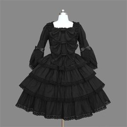 Discount plus size party dresses europe - Custom Made Plus Size Europe Retro Victorian Lolita Dress Party Gothic Layered Dress Long Lolita Halloween Costumes
