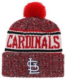 2019 Winter Cardinals Beanie LS Skull Hats for Men women Knitted Beanie  Wool Hat Man Knit Bonnet Beanies Warm Baseball Cap 253fdb2ff