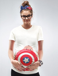 Wholesale Captain America Shield Child Printed Pregnant Women Wear Fashion Selling New Products Pure Short Sleeved Round Collars