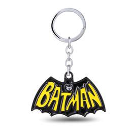 Superhero Keychains Canada - Movie Show Superhero Batman Keychain Metal Key Rings For Gift Chaveiro Key Chain Jewelry