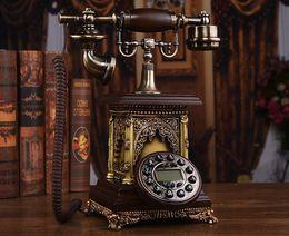 european telephone antique 2019 - Mu Wei European antique telephone landline fashion creative villa high-end telephone retro style American home fixed lin