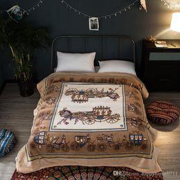 velvet bedding sets 2019 - Luxury bedding sets Vintage high quality coral velvet thickening 4kg blanket autumn and winter gift double blanket cheap