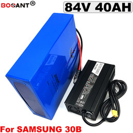 Motor Bicycles Australia - Rechargeable Lithium Battery 84V 40AH Electric Bicycle Battery for Bafang BBSHD 4000W Motor for Samsung 18650 Cell Free Shipping