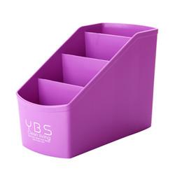 2018 Remote Control Storage Boxes Purple Plastic Desktop Storage Organizer  Caddy Remote Control Pen Pencil Makeup