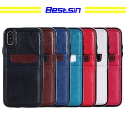 $enCountryForm.capitalKeyWord NZ - Bestsin Leather Phone Case with double card store function For Iphone X case caso del iphone luxury phone case