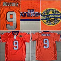 Football Jersey Orange Men NZ - Men The Waterboy NCAA Football Jersey #9 Bobby Boucher 50th Anniversary Movie Stitched Jerseys Orange S-3XL Free Shipping