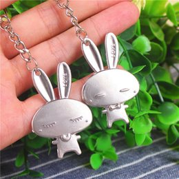 $enCountryForm.capitalKeyWord Canada - Metal Heart Rabbit Keychain Couple Keyring Christmas Valentine's Day Lover Gift Wedding Favors 1pair card DHL Free Shipping