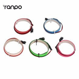 Wholesale New Arrivals Colorful m EL tape Flexible Neon Rope Light Glow EL Wire Cable waterproof led strip light V Ribbon Decor Party