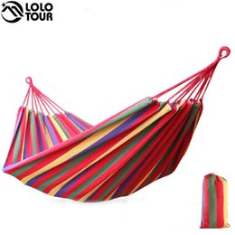 camps hammock swing NZ - 240*150cm 2 Person Hammock hamac outdoor Leisure bed hanging bed double sleeping canvas swing hammock camping hunting 3 Color